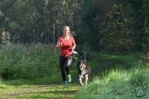 Tussen de hindernissen door ruim 5 kilometer hardlopen voor de snelste tijd bij de Happy Dogsuvival.